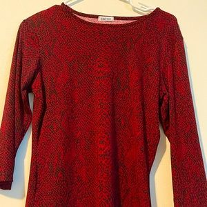 Red black blouse Star CCC